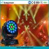 testa mobile chiara 15r dello zoom LED di 19X15W DMX per il partito