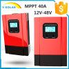 controlador solar de 40AMP MPPT 12V/24V/36V/48V com controle Esmart3-40A de Light+Dual-Timer