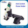 보편적인 긴 목 360 교체 차 바람막이 유리 마운트 자동 자물쇠 전화 홀더