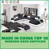 Sofa moderne de salle de séjour véritable sectionnelle