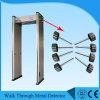Caminata multi de las zonas de la sensibilidad de Digitaces 255 de la batería a través del detector de metales de la puerta Ub600