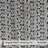 綿の幾何学的な編むレースファブリック(M3092)