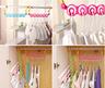 6 ropa plegable plástica de los agujeros que seca el estante