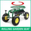 Assento de trabalho do jardim do rolamento (Steerable com almofada)