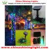 Lumières multi de vacances de la couleur LED de décoration de puissance extérieure de panneau solaire