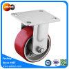 Steife Platten-Fußrolle 4  X 2  PU-Rad für Lager-Karren