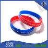 Bracelet matériel respectueux de l'environnement gravé en relief personnalisé de silicium d'impression