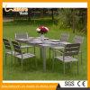 Hotel/mesa e cadeira moderna casa de lazer de alumínio Conjunto Jantar mobiliário de jardim do restaurante ao ar livre
