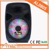 Amaz 8  무선 마이크 원격 제어 FM SD USB 포트를 가진 휴대용 트롤리 스피커 Bluetooth 다채로운 빛