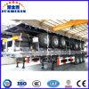 Jushixinの3つの車軸が付いている製造の平面の半トレーラー
