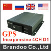 H. 264 4-Channel Vehicle SD Card Portable Car DVR