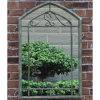 庭は型様式の金属フレームを映す