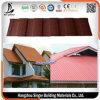Tuile de toit enduite de pierre noire de la qualité 0.4mm, tuile de toit galvanisée colorée en métal de matériau de plaque en acier