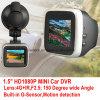2016 1.5 novos  carro DVR com o G-Sensor interno da câmera do carro de HD 1080P 5.0mega CMOS, visão noturna DVR-1518
