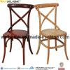 Cadeira de madeira da parte traseira X da cruz