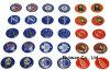 주문 Dome Epoxy Sticker, 3D Epoxy Sticker, Resin Sticker