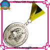 Metallmedaille mit Medaillon des Firmenzeichen-3D