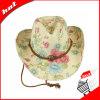 La impresión de hermoso sombrero de vaquero, sombrero de papel