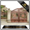 Cancello di giardino rivestito della fusion d'alluminio del metallo di potere decorativo di colore