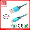 De Kabel van de bliksem USB, 3FT 6FT 10FT Extra Nylon Gevlechte Hoge snelheid--Zwarte met Blauw