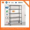 NSF de alambre de acero inoxidable estanterias /con ruedas, de 72 H