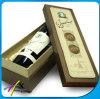 Rectángulo de empaquetado del regalo de la visualización de papel de madera hecha a mano de encargo al por mayor del vino