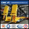 Cimc Aanhangwagen 3axle Lowbed met Hydraulische Helling