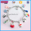 China-Fabrik-Silber-Farben-kundenspezifischer Charme-Armband-Schmucksache-Großverkauf