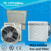Nouveau Plastic Exhaust Grille Filter Fan pour Panel Board (FK5528)