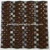 Mattonelle di mosaico di vetro dell'Mattonella-Arco del mosaico della pietra della miscela dell'arco del Brown