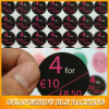 Dual Color Paper Custom Round Stickers (BLF-S036)