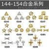 De Bergkristallen van de Legering van de Juwelen van de Kunst van de spijker schitteren Metaal van de Diamant van de Parel van de Boog van de Bloem het Gouden