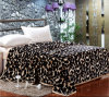 100% de poliéster Whloesale atirar flanela impresso cobertores