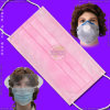 Nonwoven jetable 3-Ply Surgical Face Mask avec Ties ou Oreille-Loops