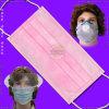 처분할 수 있는 Nonwoven는 Ties 또는 귀 Loops로 Surgical Face Mask를 3 부지런히 쓴다
