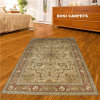 turco Single Knots Hand de 6X9ft - persa feito Rugs de Pure Silk Rug Classic