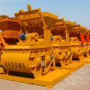 El último empaquetado Twin Shaft Compulsory hormigón mezclador de cemento (Js750)
