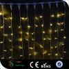 Luzes decorativas da cortina do diodo emissor de luz do PVC de Warmwhite do Natal