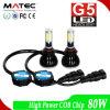 80W 8000lm 6000k LEDのヘッドライトキットH1 H4 H3 H7の穂軸LEDのヘッドライト