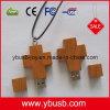 перекрестный деревянный USB 1GB (YB-125)