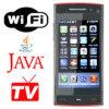 X6 quad band cartão duplo com Java Mobile TV Desbloqueado Tela sensível ao toque do Telefone Celular