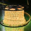 黄色いカラー60LEDs SMD5050 220V IP65 LEDロープライト