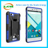 Shockproof Rüstungs-Kasten mit Telefon-Halter für blaue Studio-Energie