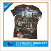 T-shirt de impressão digital personalizado por atacado para homens com pescoço redondo