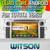 Witson S160 para Toyota Versocar DVD GPS Player com a semente do Espelho-Link de Core HD 1024X600 Screen 16GB Flash 1080P WiFi 3G Front DVR DVB-T do quadrilátero Rk3188 (W2-M133)