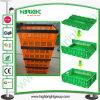 De plastic Vouwbare Opslag luchtte Afsluitbare het Stapelen Container