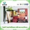 Brochures d'impression de papier enduit gravant en refief avec pour du vin