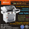 1000 do cortador aritmético da estaca da tela toque das folhas 670mm 10 de  máquina de papel programada hidráulica automática