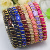 Dame Luxury Spiral Metal Beads Elastische Kabel RubberHairbands (JE1582)