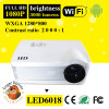 1080P 3000 Lumens Android DEL Mini Projector pour Movies